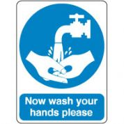 Mandatory Safety Sign - Now Wash Hands 114